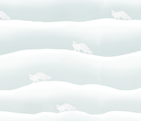 artic foxes fabric by haystacks on Spoonflower - custom fabric