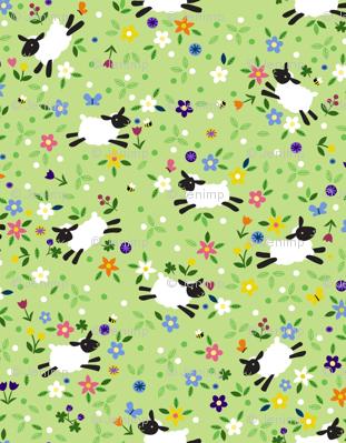 Meadow Sheep Ditsy