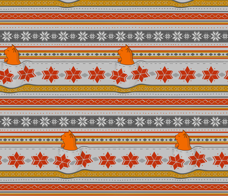 Fair Isle Catnap fabric by belinda_paige on Spoonflower - custom fabric