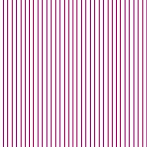 Pin Stripe pinstripe magenta hot pink on white