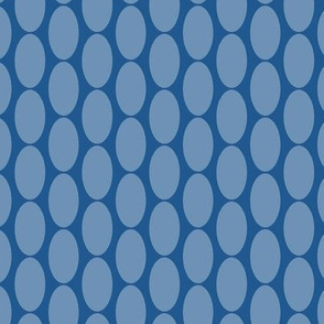 Dusty Blue Oval Polka Dots Large || Home Decor Spots _ Miss Chiff Designs