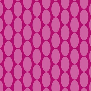 16-23F Hot Pink Magenta Rose Large scale Oval polka dot || Retro Christmas Miss Chiff Designs