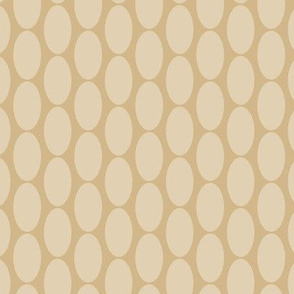 Large Tan Beige Oval Polka Dot