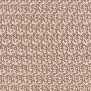 Light Brown abstractFloral || Home Decor Tan