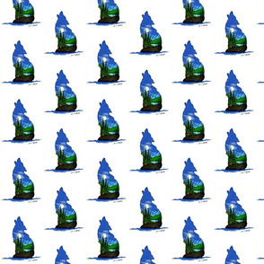 Blue wolf art-ed
