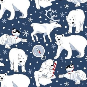 Arctic Animals blue