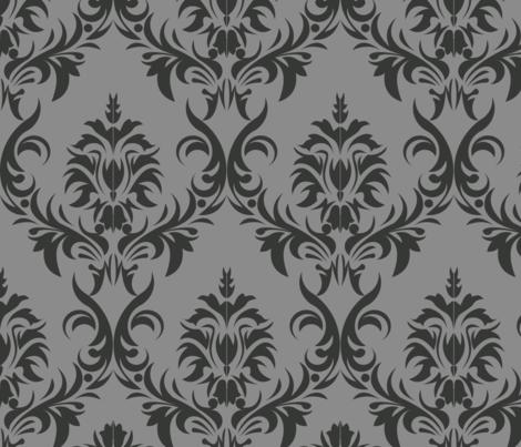 Javanese Keraton Elegant Grey 32x32 fabric by shasmeen on Spoonflower - custom fabric
