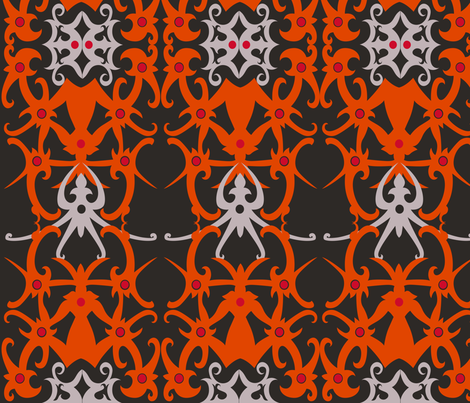 Traditional Borneo Dayak Tattoo Pattern 32x32 fabric by shasmeen on Spoonflower - custom fabric