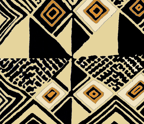 West Africa Kuba III fabric by vagabond_folk_art on Spoonflower - custom fabric