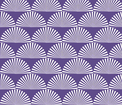 sunburst scales in ultra violet fabric by elizabethmay on Spoonflower - custom fabric