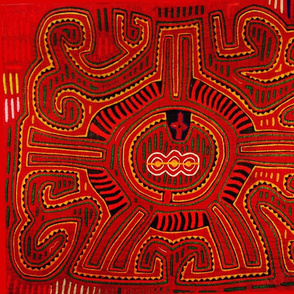 Southwest Red San Blas Indian Design