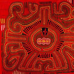 Mola - Red San Blas Indian Design