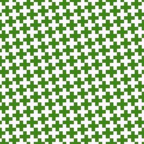 Green Cross on White