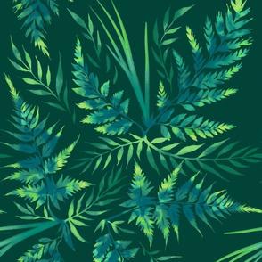 Fern Leaves - Green