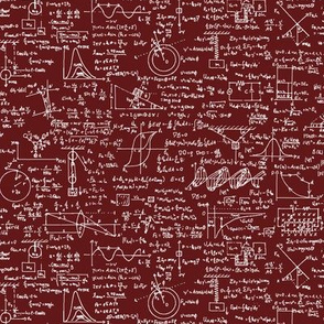 Physics Equations on Maroon // Small