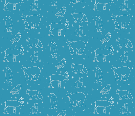 arctic animals fabric by samanthabender on Spoonflower - custom fabric