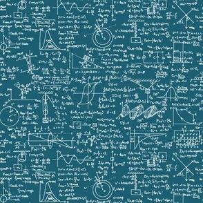 Physics Equations on Aqua // Small