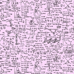 Physics Equations on Pink // Small
