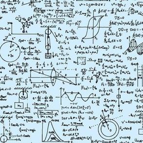 Physics Equations on Light Blue // Large