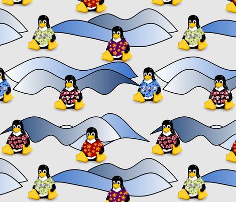 casual-artic-penguins fabric by casualtux on Spoonflower - custom fabric