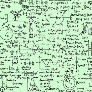 Physics Equations on Light Green // Large