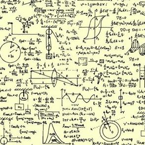 Physics Equations on Yellow // Large