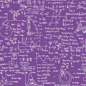 Physics Equations on Purple // Large