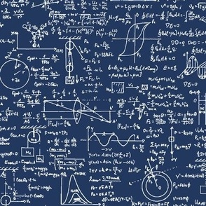 Physics Equations on Navy // Large