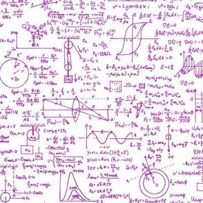 Pink Physics Equations // Large