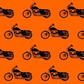 "2.5"" Motorcycles on Orange"