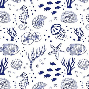 Aquatic Life // Dark Blue
