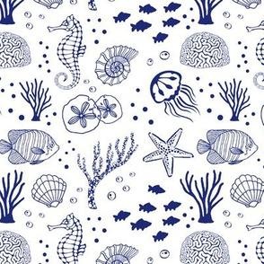 Aquatic Life // Dark Blue