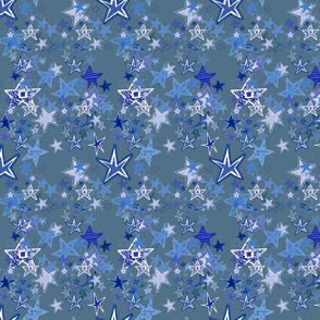 icey christmas starry night