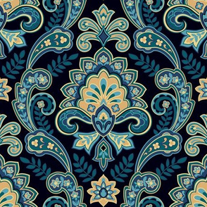 Regal Paisley Black
