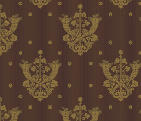 Castle Howard Damask 1d fabric by muhlenkott on Spoonflower - custom fabric