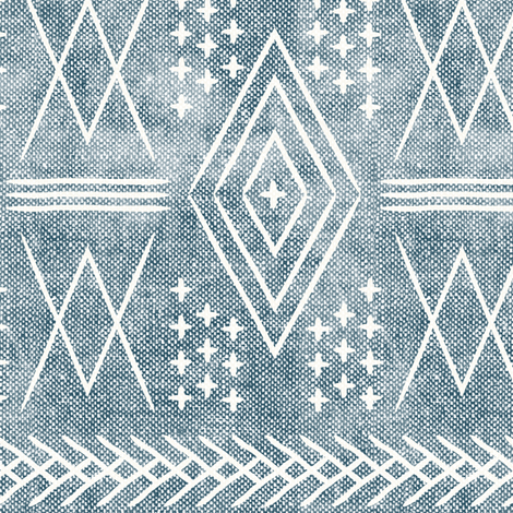(med scale) vintage moroccan - dusty blue fabric by littlearrowdesign on Spoonflower - custom fabric