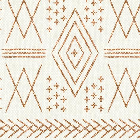 vintage moroccan (med scale) - dark maple fabric by littlearrowdesign on Spoonflower - custom fabric