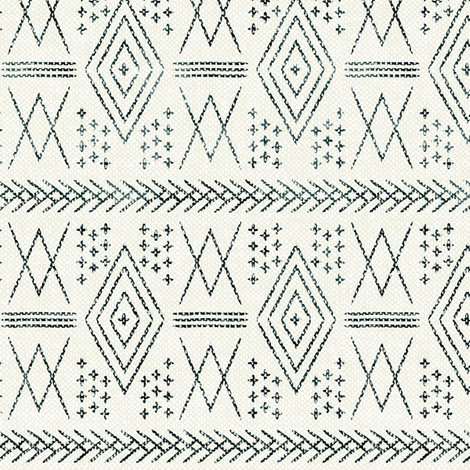 (small scale) vintage moroccan  - deep green  fabric by littlearrowdesign on Spoonflower - custom fabric
