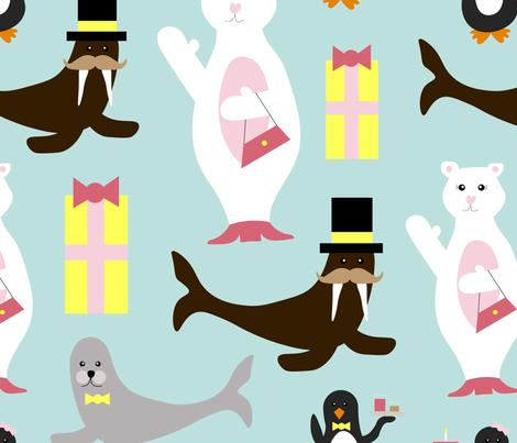 Celebrating Arctic Animals fabric by buco_parade on Spoonflower - custom fabric