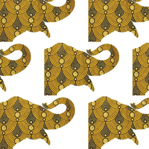 Elephant African wax print