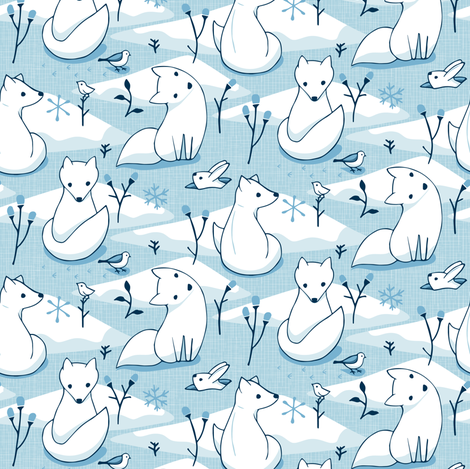 Arctic Fox fabric by mia_valdez on Spoonflower - custom fabric