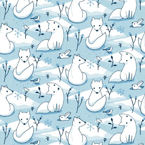 Arctic Fox fabric by mia_valdez on Spoonflower - custom fabric