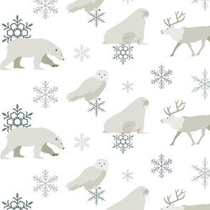arctic animal pattern 1