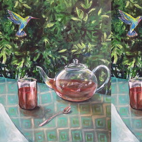 Tea Time with hummingbird