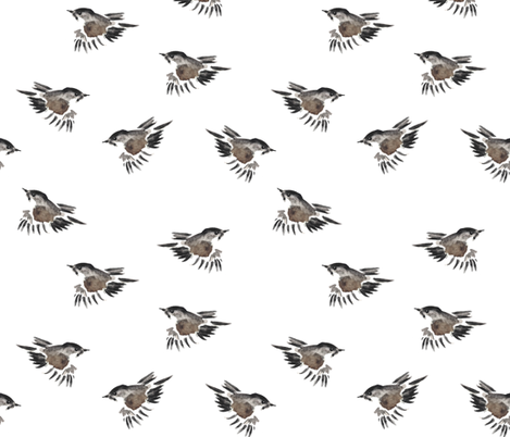 Little Sparrow fabric by wrensroost on Spoonflower - custom fabric