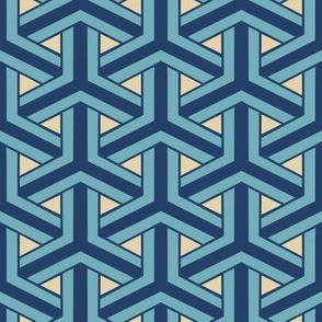 Bamboo Weave Large - Blue