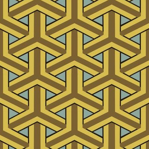 Bamboo Weave Large - Gold