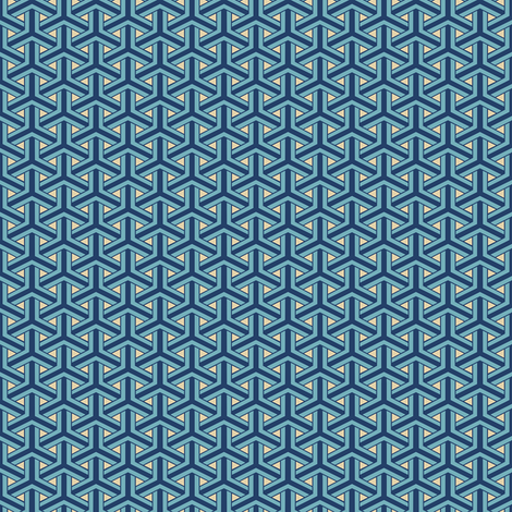 Bamboo Weave Small -  Blue fabric by ameliae on Spoonflower - custom fabric