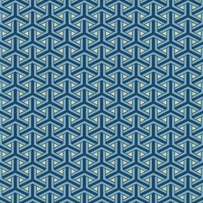 Bamboo Weave Small -  Blue