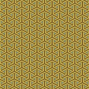 Bamboo Weave Small - Gold